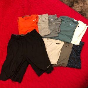 NIKE BUNDLE (9 PIECES: 8 Shirts + 1 Short)